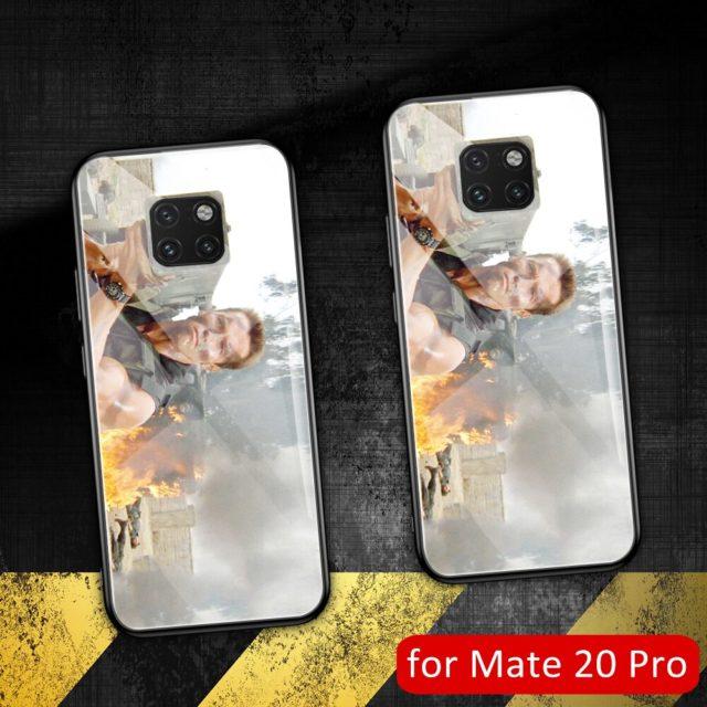 Per il caso di Huawei compagno di 20 pro Arnold Schwarzenegger molle del silicone di vetro cassa Del Telefono della copertura di shell Per Huawei Compagno di 20 pro