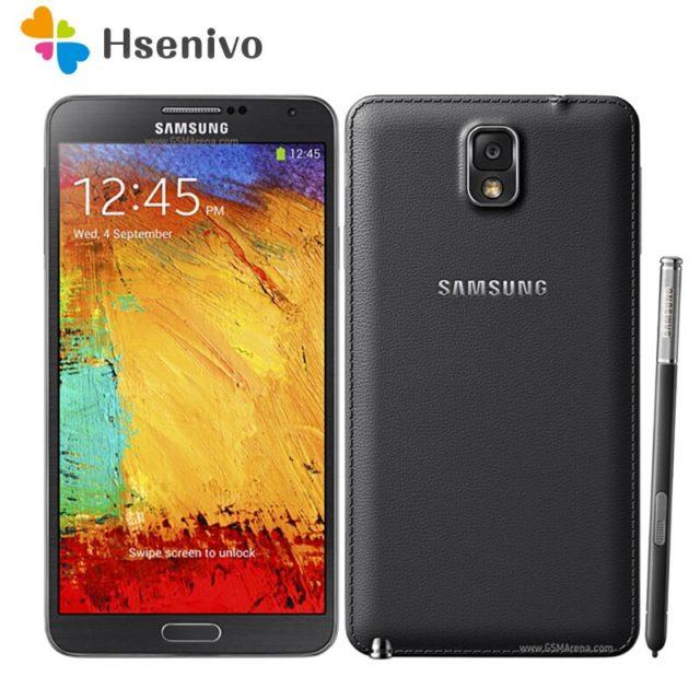 """Sbloccato Originale Per Samsung Galaxy Note 3 N900 N9005 Telefono Quad Core 5.5 """"8MP 3G GPS WIFI nota 3 telefono delle cellule di Trasporto Libero"""