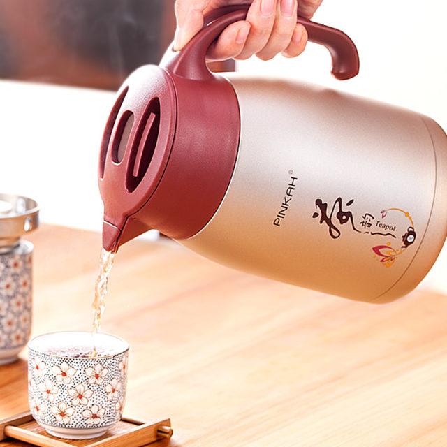 2019 Vendita Calda PINKAH 1L/1.5L Casa Termo Brocca di Affari di Calore Bollitore Ufficio Caffè Tè di Vuoto Isolamento Piatto Piatto di Viaggi thermos