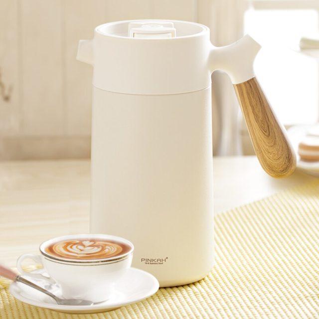 Sottovuoto di Caffè Pentola 950ml Famiglia 304 In Acciaio Inox A Mano Presse Caffè Isolato Bollitore Con Manico di Affari Filtro del Caffè Pentola